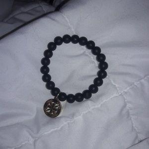 rustic cuff bracelet black